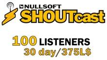 Shoutcast 30 days 100 listeners