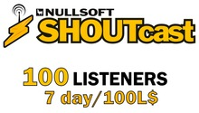 Shoutcast 7 days 100 listeners