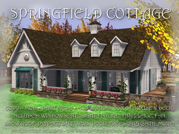 SPRINGFIELD Cottage PART MESH HOUSE