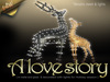 """A Love Story"" sculpture art. INCLUDES Christmas decoration lights"