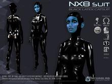 NX8 Catsuit Black (Appliers MESH HEADS & BODIES) [NeurolaB Inc.]