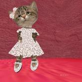 heart .dress  shoes . hair bow . outfit  vestido,zapatos y moño de corazones