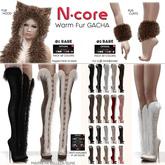 17. N-core VALKYRIE Fur Boots (Knee) BEIGE
