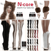 16. N-core VALKYRIE Fur Boots (Knee) BROWN