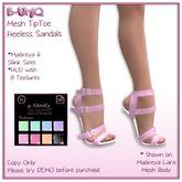 ::B-UniQ:: TipToe Heeless Sandals