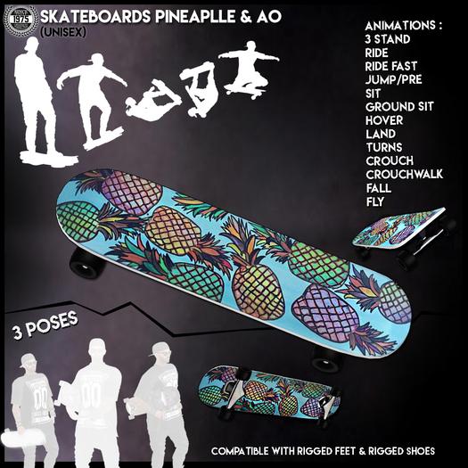 [Since1975]-Skateboard Pineapple & AO
