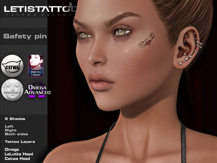 Letis Tattoo :: Safety Pin :: Face Tattoo & Appliers