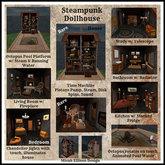 Steampunk Dollhouse Bathroom Set (Boxed)