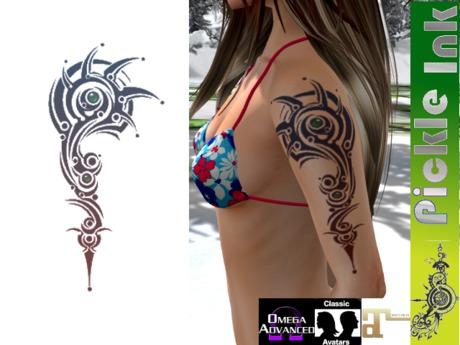 Pickle Ink - Techno Jewels Tribal Tattoo