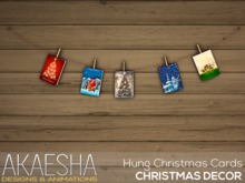 [Akaesha] Hung Christmas Cards  (( Christmas Decor ))