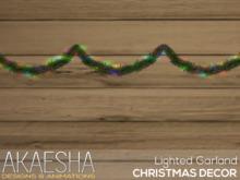 Akaesha's Lighted Christmas Garland  (( Christmas Decor ))