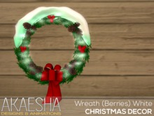 [Akaesha] Wreath (Berries & Pinecones) White