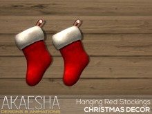[Akaesha] Hanging Red Stockings  (( Christmas Decor ))