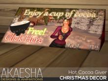 [Akaesha] Hot Cocoa Giver   (( Christmas Decor ))