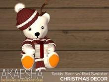 Akaesha Teddy Bear w/ Red Sweater (wear me)