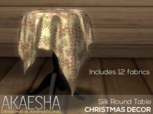 Akaesha's Silk Round Table  (( Christmas Decor ))