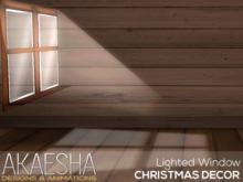 Akaesha's Lighted Window  (( Christmas Decor ))