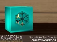 [Akaesha] Snowflake Tea Candle (Blue)