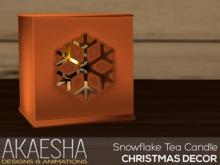 [Akaesha] Snowflake Tea Candle (Bronze)