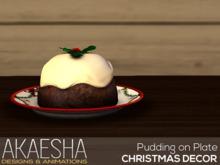 [Akaesha] Christmas Pudding on Christmas Plate (( Christmas Decor ))