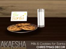 [Akaesha] Milk & Cookies for Santa  (( Christmas Decor ))