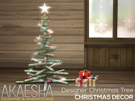 Christmas Tree (Designer Twig) PLUS Animated Presents