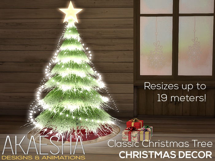 Christmas Tree (Classic) with Light and Sound Show PLUS Resizer and Animated Presents