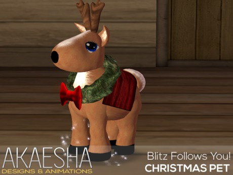 Blitz the Reindeer Pet - Follows you around with a star dust trail