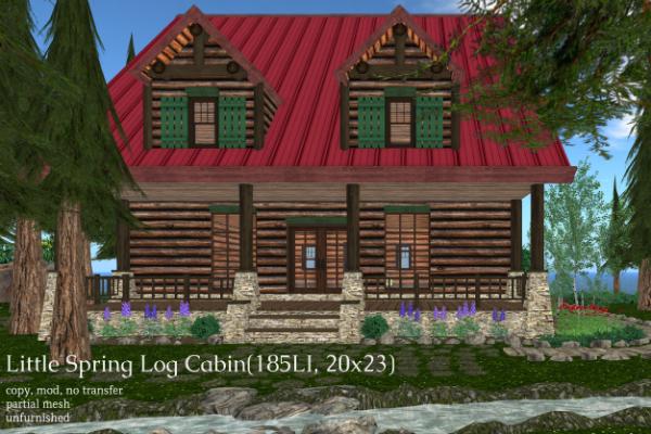 Little Spring Log Cabin(185LI, 20x23)