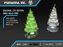 PsiNanna, Inc. Seasonal Limited Edition Xmas Tree