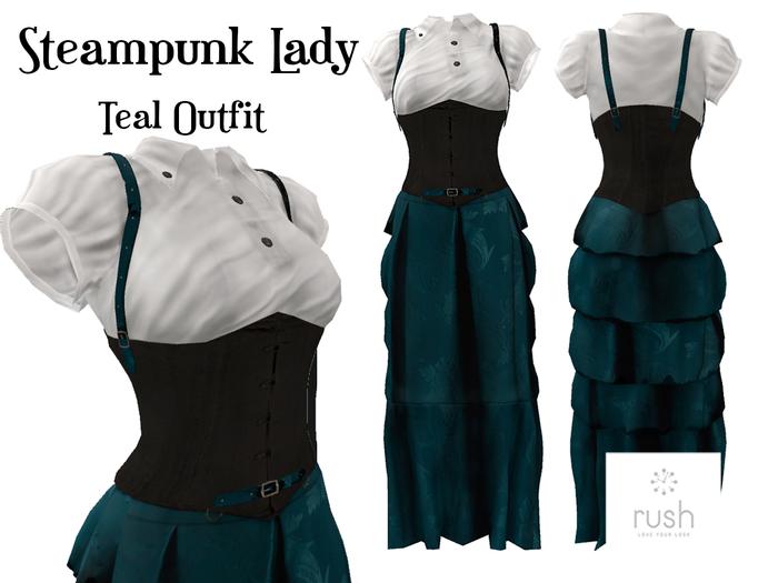 RUSH Steampunk Lady Teal