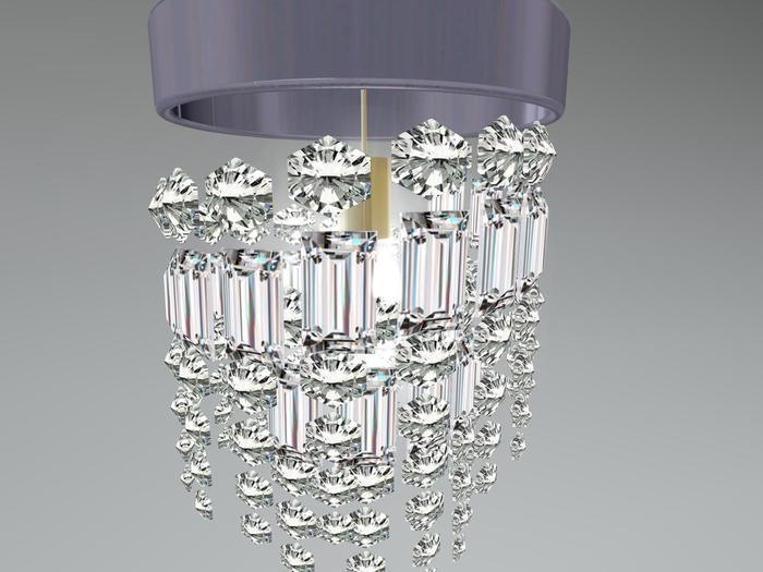 "Chandelier ""crystal spiral"" 1 prim,  100% mesh"