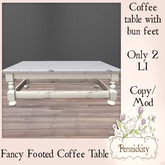 Fancy Footed Coffee Table