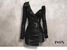 ISON - moto jacket dress (black)