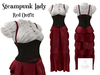 RUSH Steampunk Lady RED