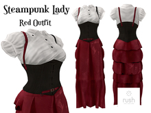 RUSH Steampunk Lady RED Pack