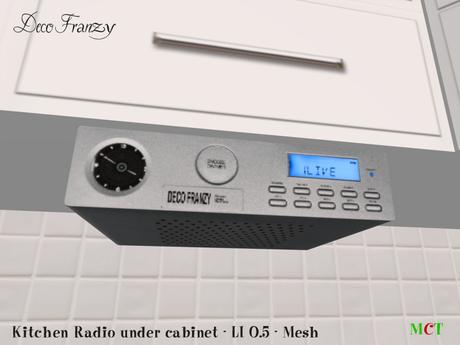 Decofranzy Under Cabinet Kitchen Radio