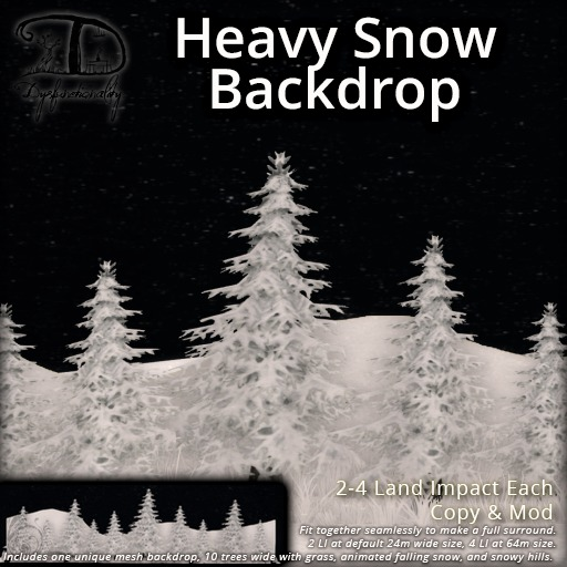 [DDD] Heavy Snow Backdrop - Animated Detailed Privacy Screen or Background - Perfect for mainland