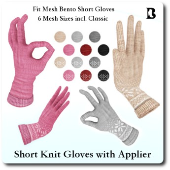 Blackburns Short Knit Bento Gloves with Applier
