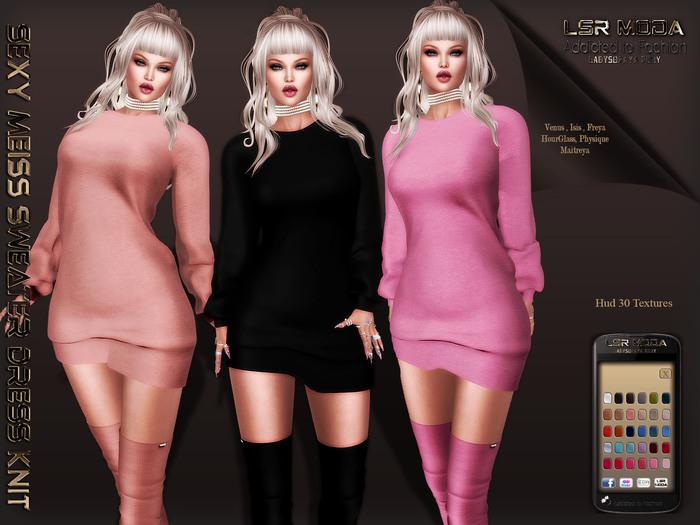 [ LsR ] - Sexy Meiss Sweater Dress Knit