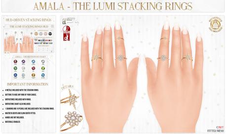 Amala - The Lumi Stacking Rings