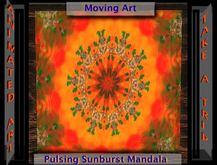 Pulsing Sunburst Animated Mandala Kaleidoscope