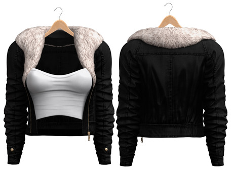 Blueberry - Ela - Fur Jackets - Black