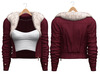 Blueberry - Ela - Fur Jackets - Cherry