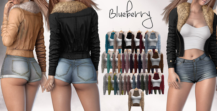 Blueberry - Ela - Fur Jackets - Fat Pack