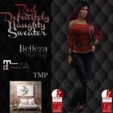 TSL - Red Definitely Naughty Sweater