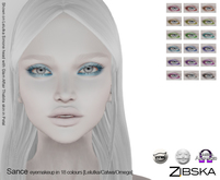 Zibska [50L Closeout] ~ Sance eye makeup in 18 colors with Catwa, Lelutka and Omega appliers.
