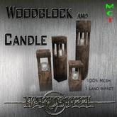 -]HS-Karton[- 4 Woodblock Candel