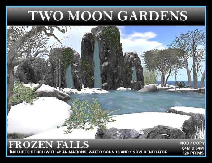 FROZEN FALLS* Winter Landscape with 3 waterfalls