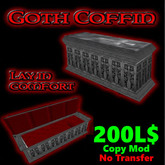 Goth coffin tomb